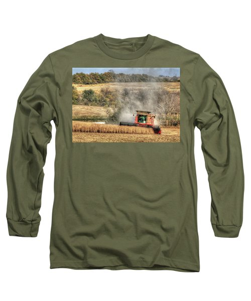Page County Iowa Soybean Harvest Long Sleeve T-Shirt