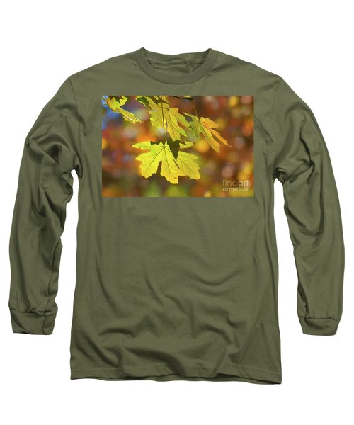 Painted Golden Leaves Long Sleeve T-Shirt