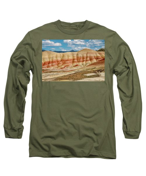 Painted Hills And Afternoon Sky Long Sleeve T-Shirt by Greg Nyquist