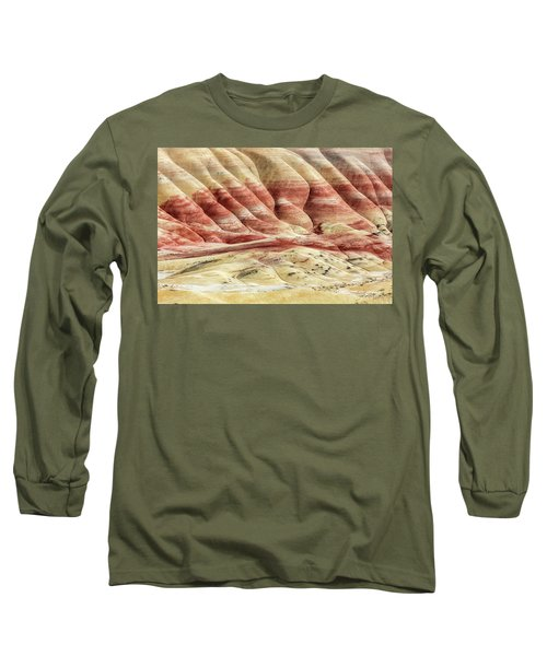Painted Hills Landscape Long Sleeve T-Shirt