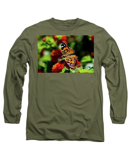Painted Lady Butterfly Long Sleeve T-Shirt