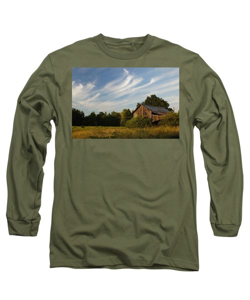 Painted Sky Barn Long Sleeve T-Shirt by Benanne Stiens