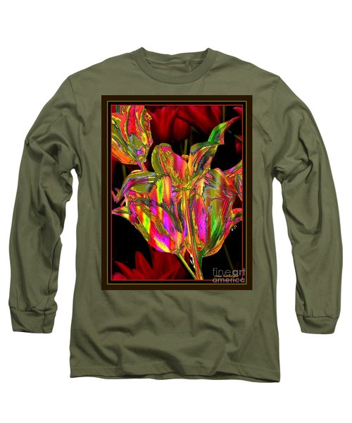Painted Tulips Long Sleeve T-Shirt by Irma BACKELANT GALLERIES
