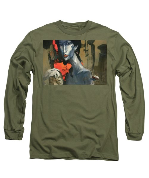 Painting Of The Lady _ 1 Long Sleeve T-Shirt by Behzad Sohrabi