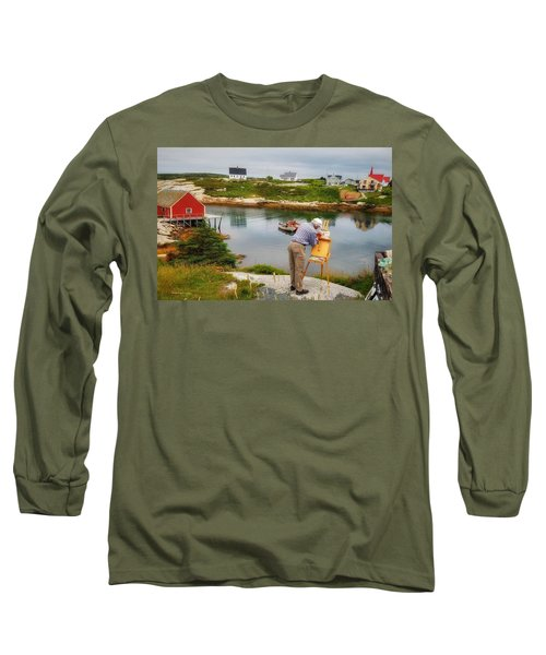 Painting Peggys Cove Long Sleeve T-Shirt