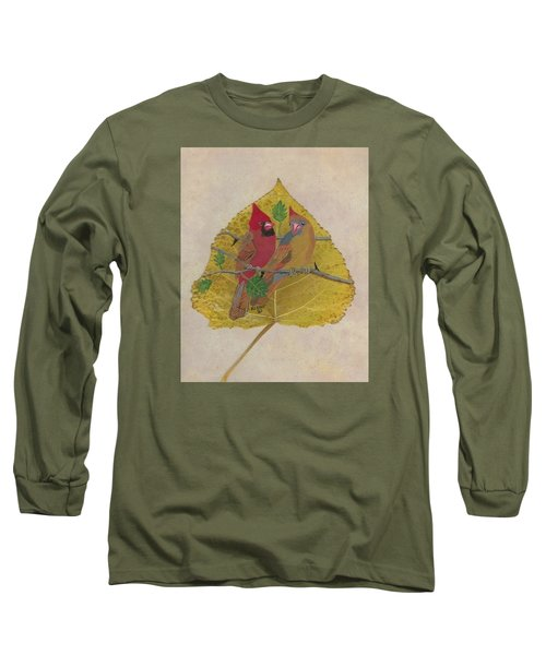 Pair Of Cardinals Long Sleeve T-Shirt by Ralph Root
