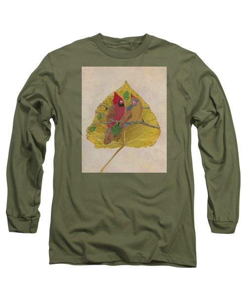 Pair Of Cardinals Long Sleeve T-Shirt