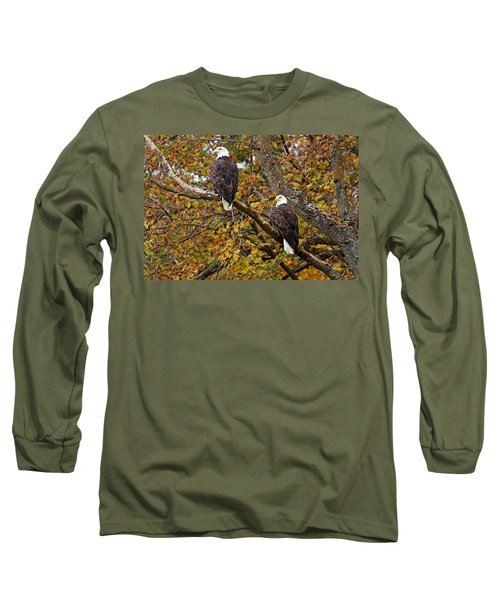 Pair Of Eagles In Autumn Long Sleeve T-Shirt