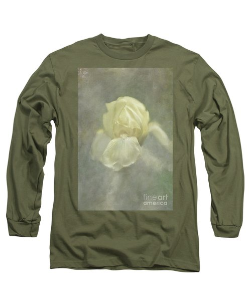Long Sleeve T-Shirt featuring the digital art Pale Misty Iris by Lois Bryan