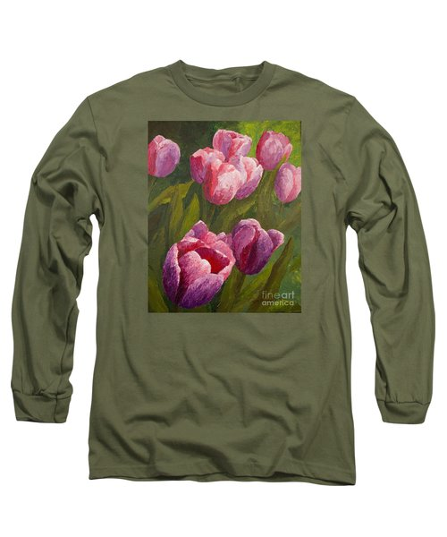 Palette Tulips Long Sleeve T-Shirt by Phyllis Howard