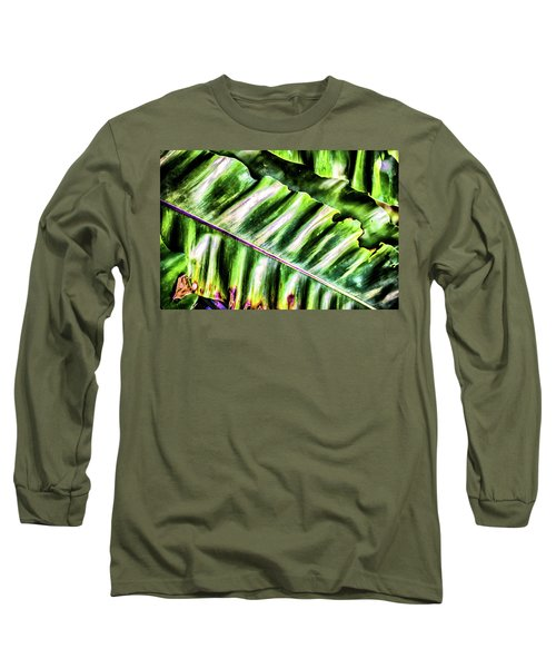 Palm Fronds Up Close Long Sleeve T-Shirt
