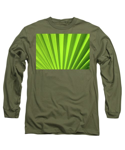 Palm Leaf Abstract Long Sleeve T-Shirt