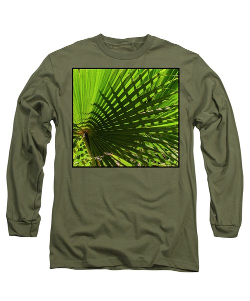 Long Sleeve T-Shirt featuring the photograph Palm Pattern No.1 by Mark Myhaver