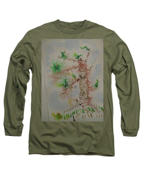 Palm Tree Long Sleeve T-Shirt by AJ Brown
