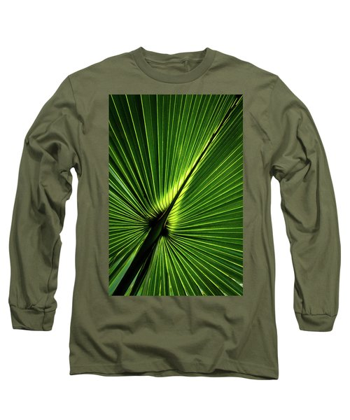 Palm Tree With Back-light Long Sleeve T-Shirt