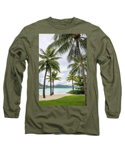 Palm Trees 1 Long Sleeve T-Shirt by Sharon Jones
