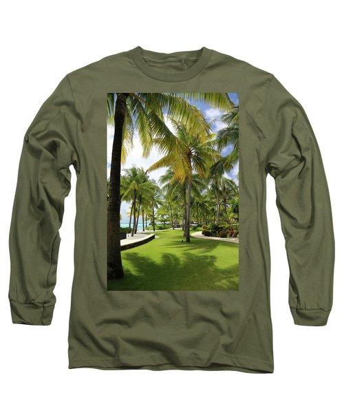 Palm Trees 2 Long Sleeve T-Shirt by Sharon Jones