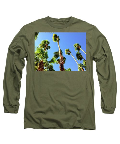 Palm Trees Looking Up Long Sleeve T-Shirt