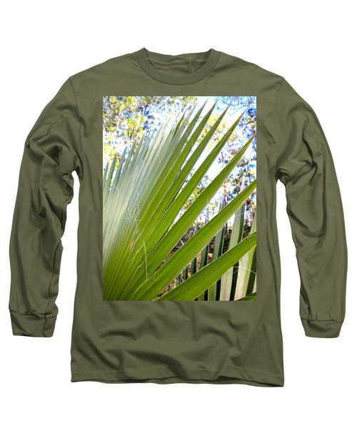 Long Sleeve T-Shirt featuring the painting Palmetto 1 by Renate Nadi Wesley