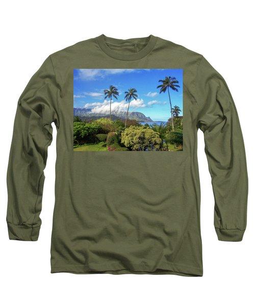 Palms At Hanalei Long Sleeve T-Shirt