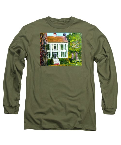 Long Sleeve T-Shirt featuring the painting Palto Alto Plantation Up Close by Jim Phillips