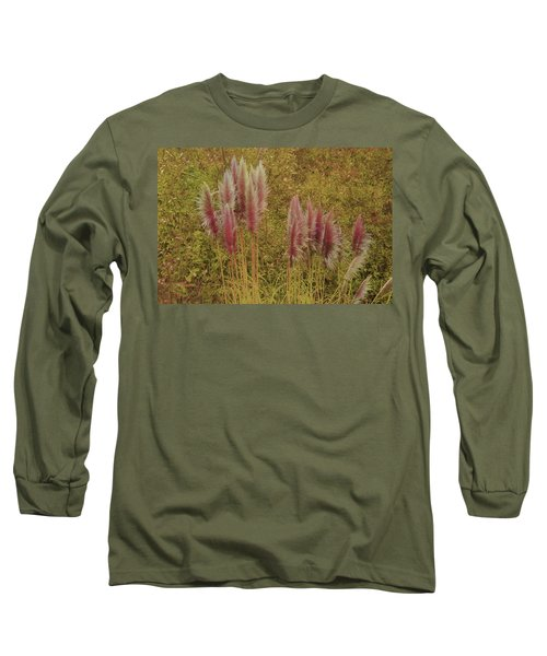 Pampas Grass Long Sleeve T-Shirt by Athala Carole Bruckner