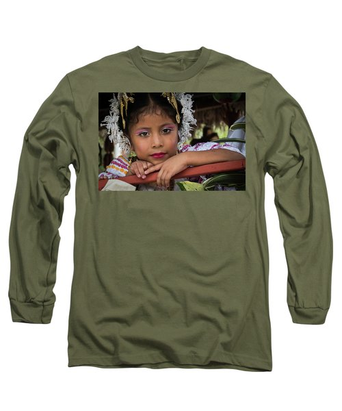 Panamanian Girl On Float In Parade Long Sleeve T-Shirt
