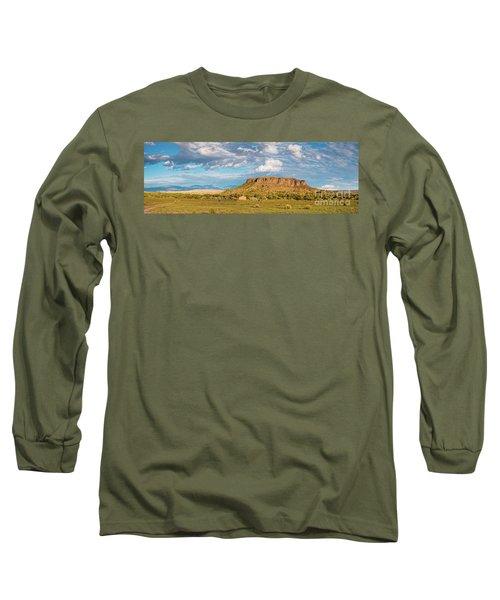 Panorama Of Black Mesa At San Ildefonso Pueblo - New Mexico Land Of Enchantment Long Sleeve T-Shirt