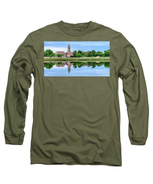 Panoramic Reflections Of Nin, Croatia Long Sleeve T-Shirt