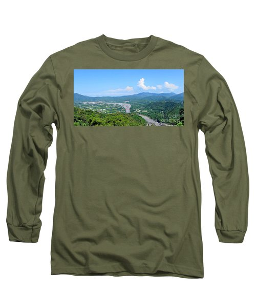 Long Sleeve T-Shirt featuring the photograph Panoramic View Of Southern Taiwan by Yali Shi