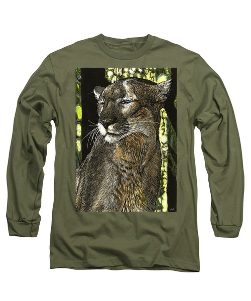 Panther Contemplates Long Sleeve T-Shirt
