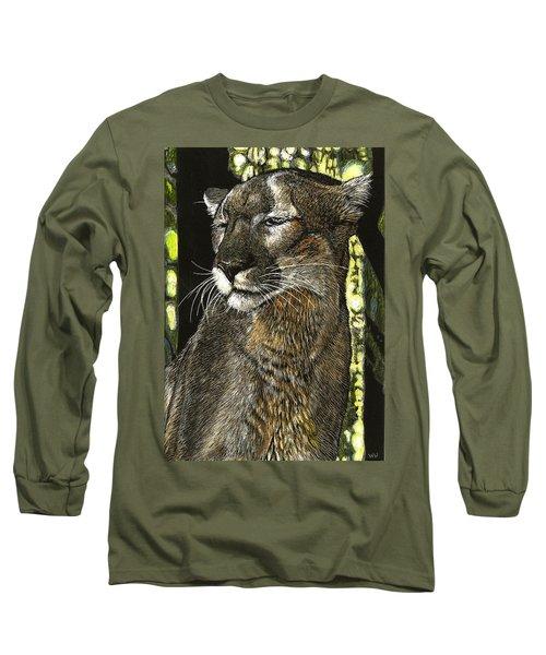 Panther Contemplates Long Sleeve T-Shirt