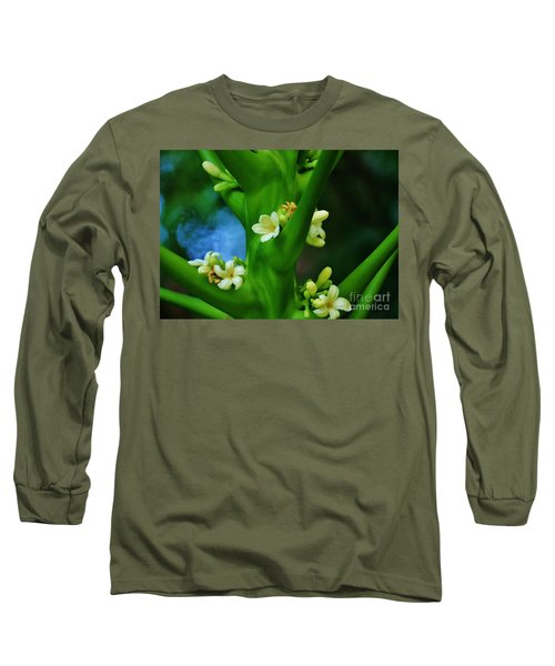 Papaya Blossoms Long Sleeve T-Shirt