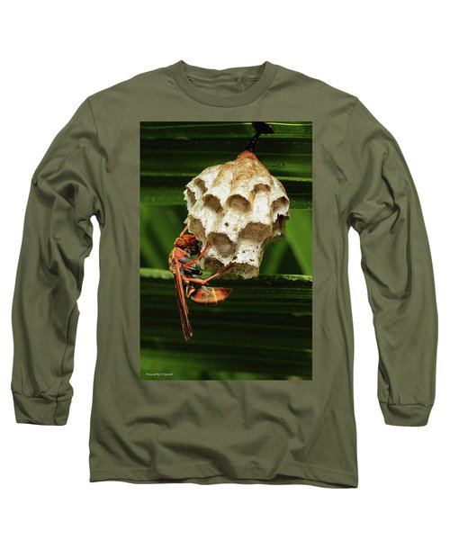 Paper Wasps 00666 Long Sleeve T-Shirt by Kevin Chippindall