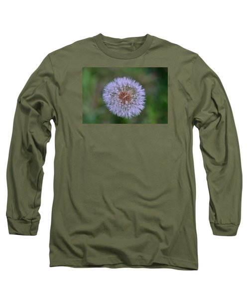 Parachute Club- Dandelion Gone To Seed Long Sleeve T-Shirt by David Porteus