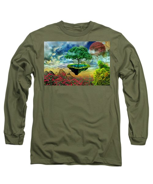 Paradise Island Long Sleeve T-Shirt by Ally White