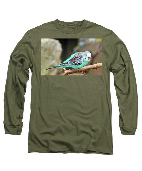 Parakeet  Long Sleeve T-Shirt by Inspirational Photo Creations Audrey Woods