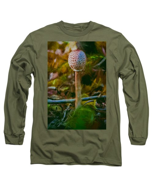 Artistic Parasol Mushroom Also Known As Snake S Hat Long Sleeve T-Shirt