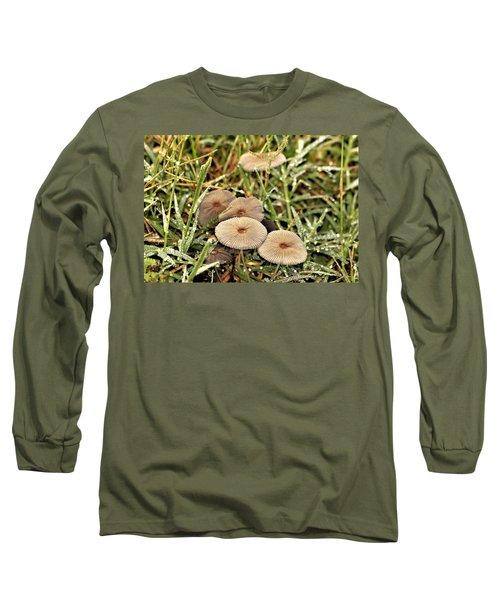 Parasol Mushrooms And Morning Dew Long Sleeve T-Shirt
