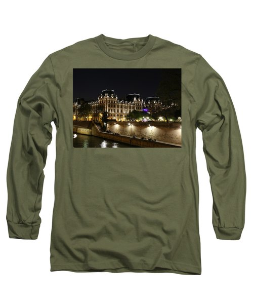 Long Sleeve T-Shirt featuring the photograph Paris Police Headquarters by Andrew Fare