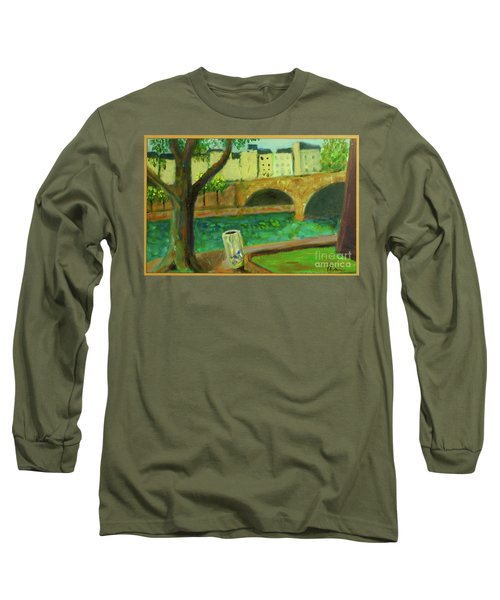Long Sleeve T-Shirt featuring the painting Paris Rubbish by Paul McKey
