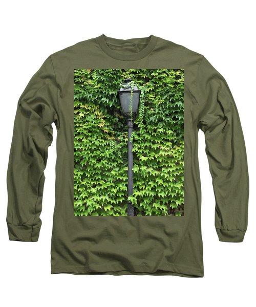 Parisian Lamp And Ivy Long Sleeve T-Shirt by Yoel Koskas