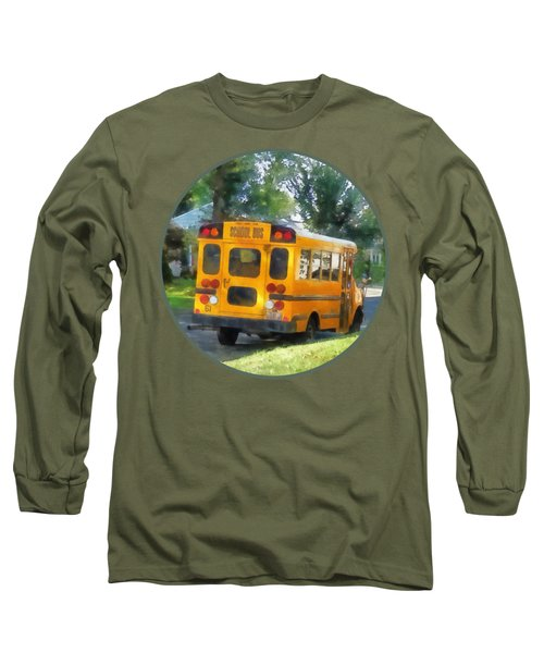 Parked School Bus Long Sleeve T-Shirt by Susan Savad