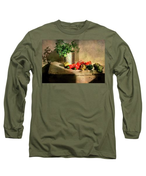 Long Sleeve T-Shirt featuring the photograph Parsley And Peppers by Diana Angstadt