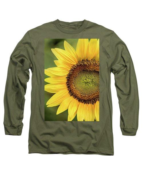 Part Of A Sunflower Long Sleeve T-Shirt