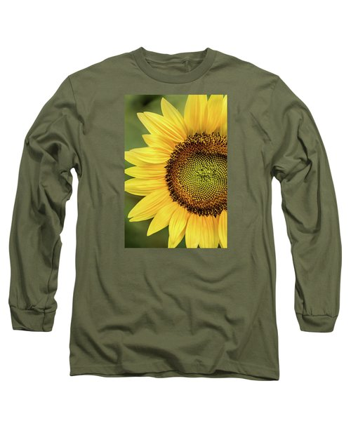 Part Of A Sunflower Long Sleeve T-Shirt