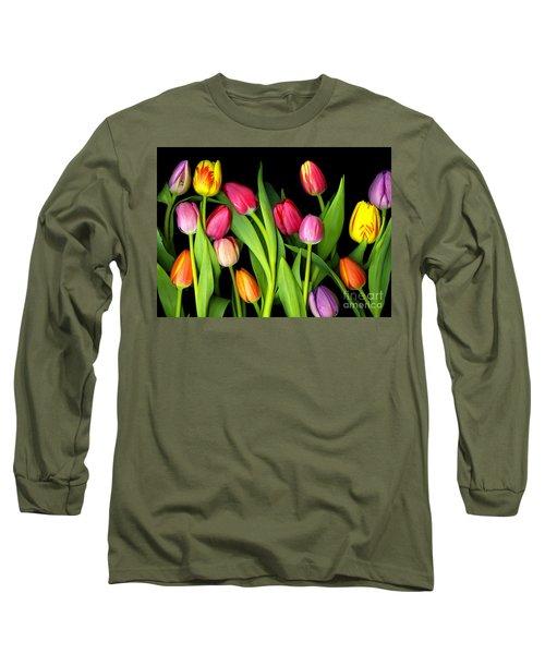 Tulips Long Sleeve T-Shirt by Christian Slanec