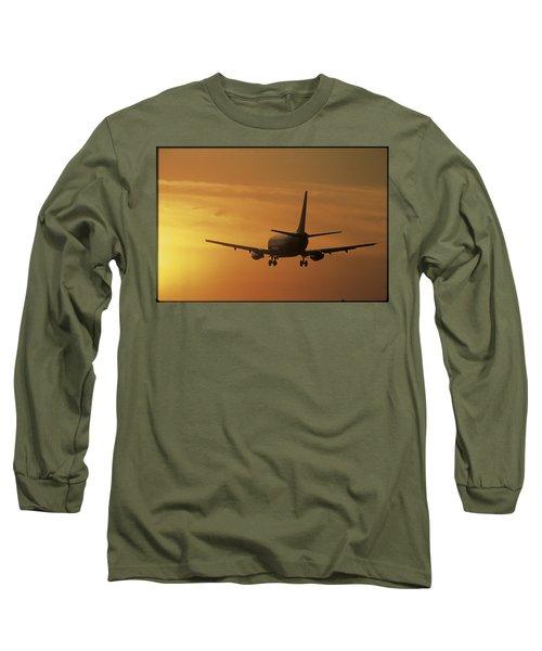Passenger Plane Taking Off Lax Airport Long Sleeve T-Shirt