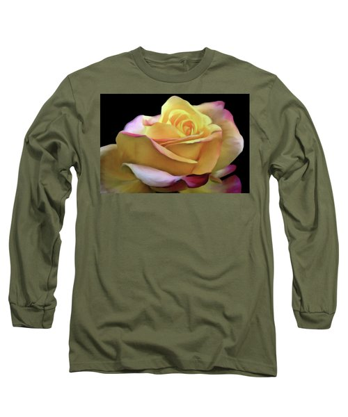 Pastel Yellow Rose Canvas Proofed Long Sleeve T-Shirt