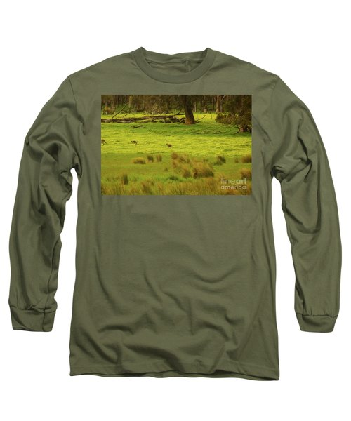 Pasture In Boranup Long Sleeve T-Shirt by Cassandra Buckley